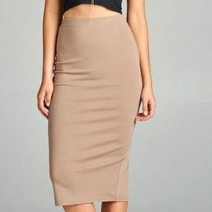 Dresses & Skirts - ponte pencil midi skirt